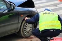 Wypadek komunikacyjny o poważniejszych skutkach z udziałem policji