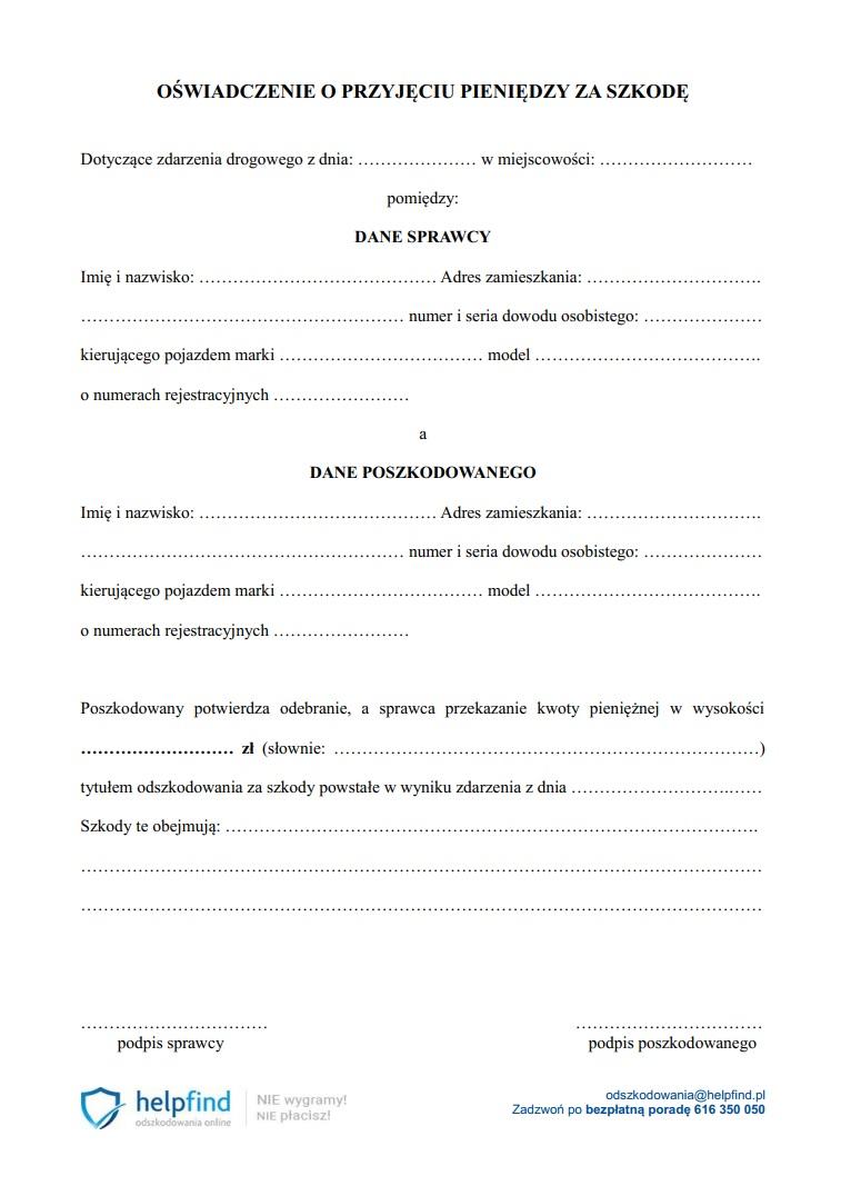 Wybierz format dokumentu